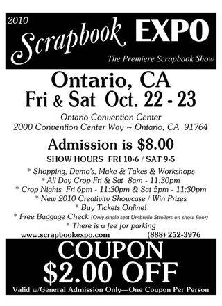 Scrapbook Expo discount